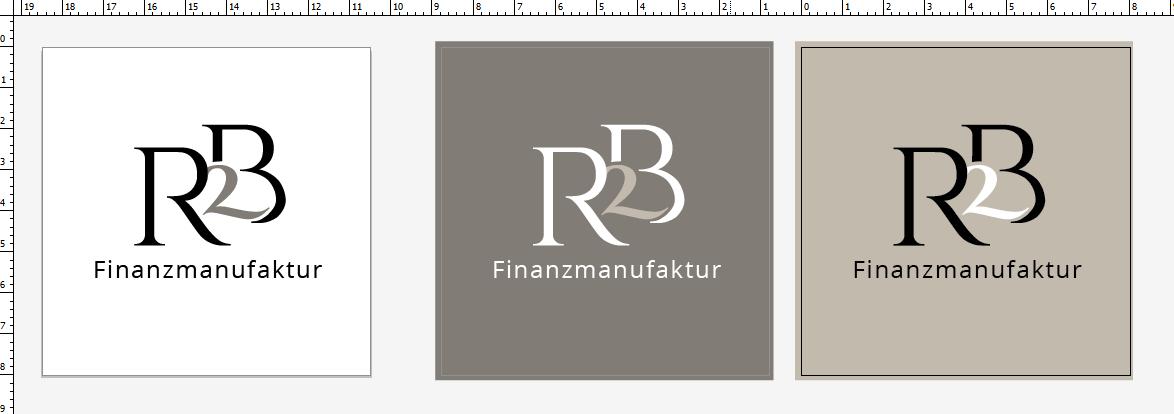 Logodesign der R2B Finanzmanufaktur, gestaltet von Nicole van Meegen