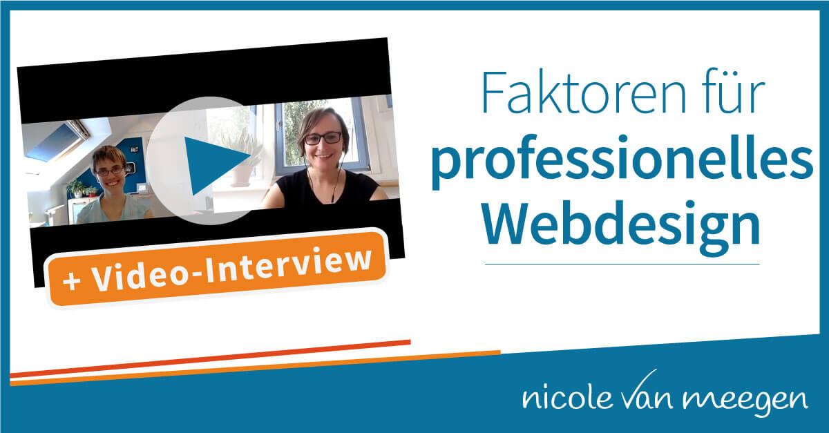 Faktoren für professionelles Webdesign