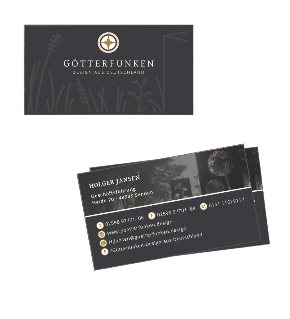 Visitenkarten Design für die Götterfunken GmbH