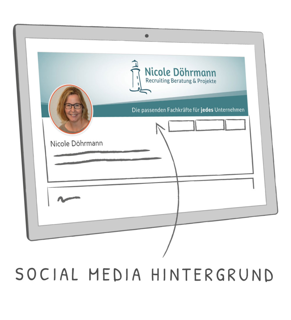 Social Media Hintergrundbild Nicole Döhrmann Recruiting Beratung & Projekte
