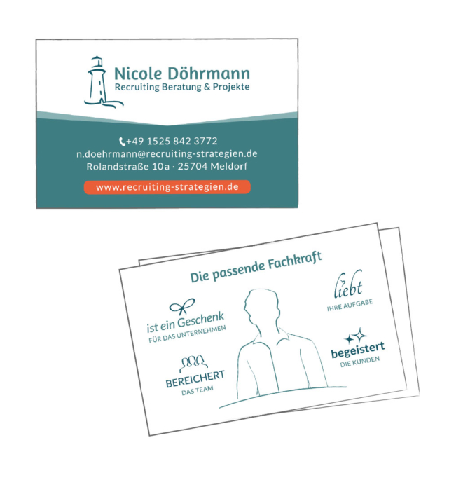 Visitenkarte Nicole Döhrmann Recruiting Beratung & Projekte