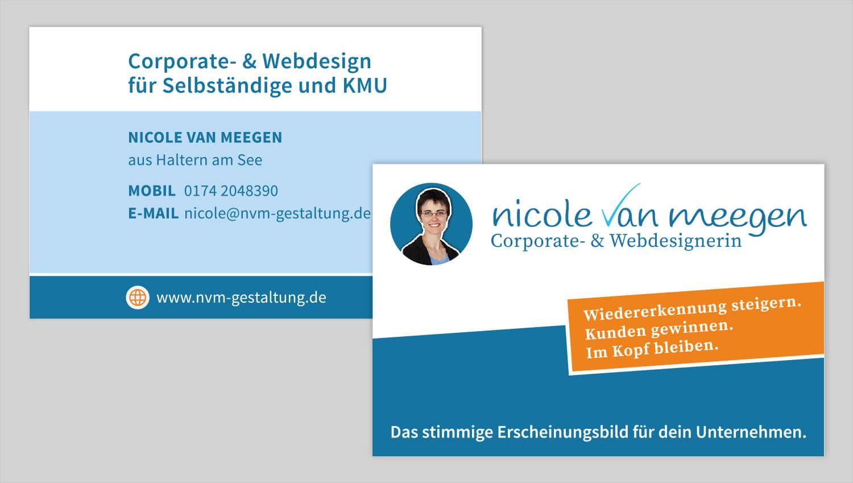 Visitenkarte Design Nicole van Meegen