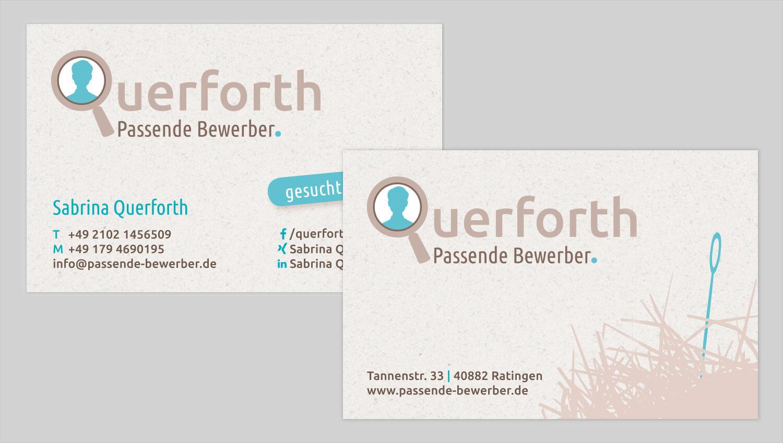 Visitenkarte Design Passende Bewerber