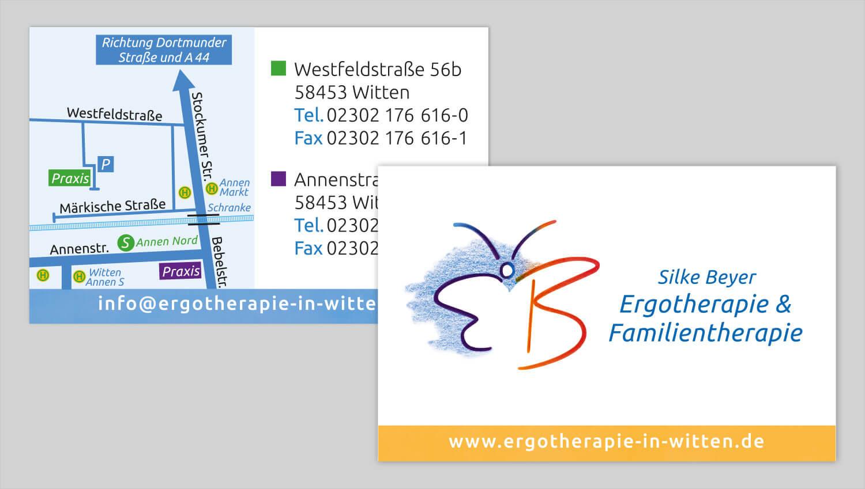 Visitenkarte Design Silke Beyer Ergotherapie
