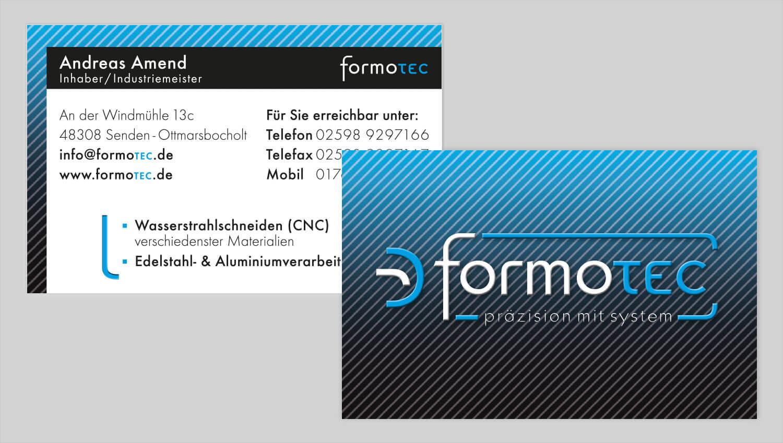 Visitenkarte Design formotec