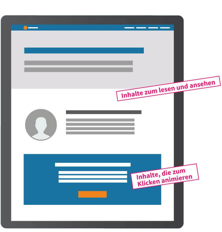Website Inhalte zum lesen und aktivieren