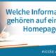 Welche Informationen gehören auf eine gute Homepage?