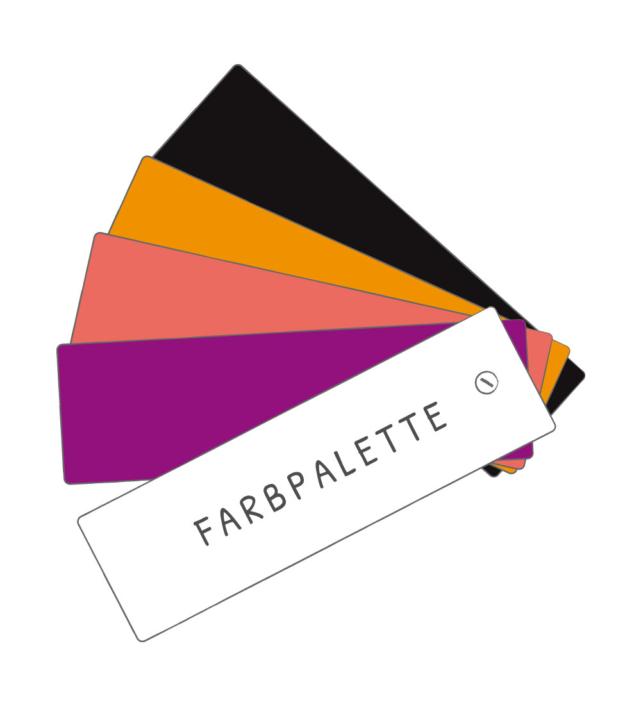 Farbpalette manida werbemittel und konzepte