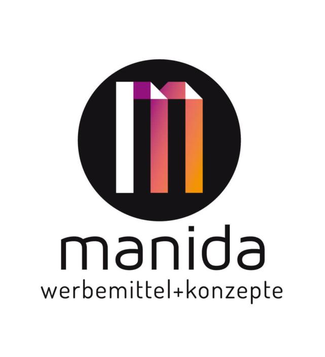 Logo Design manida werbemittel und konzepte