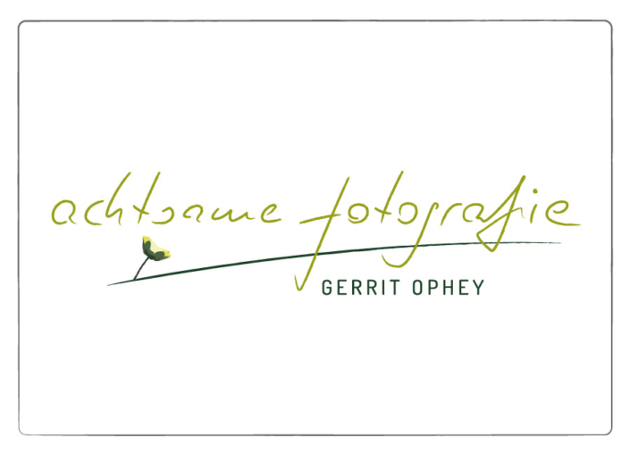 Logo Design achtsame fotografie Gerrit Ophey