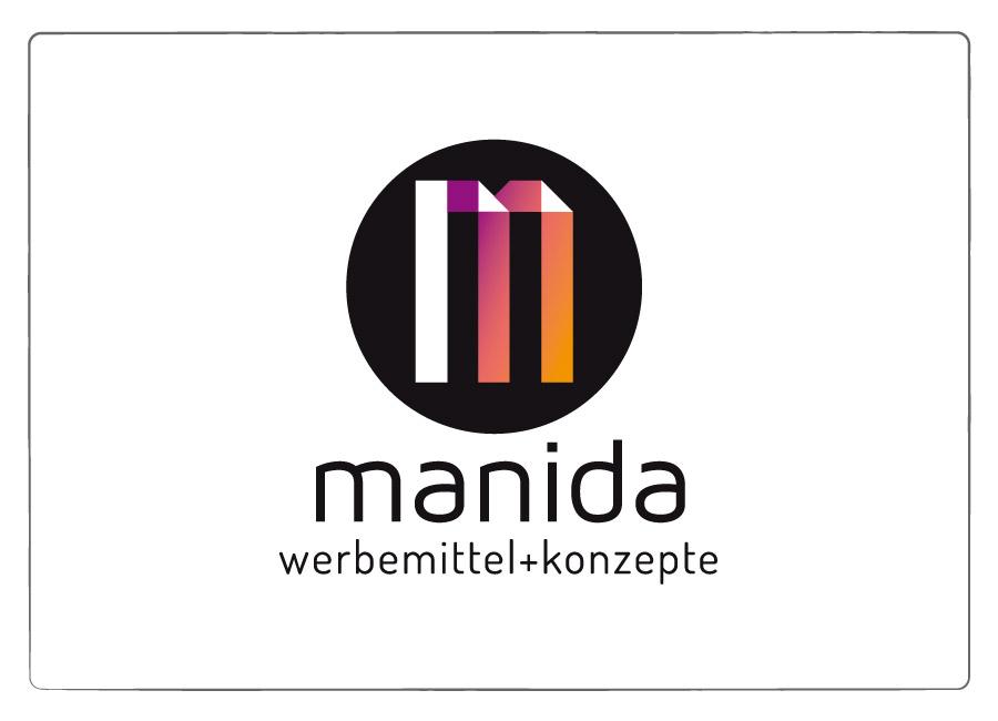 Logo Design manida - Werbemittel und Kontezpte