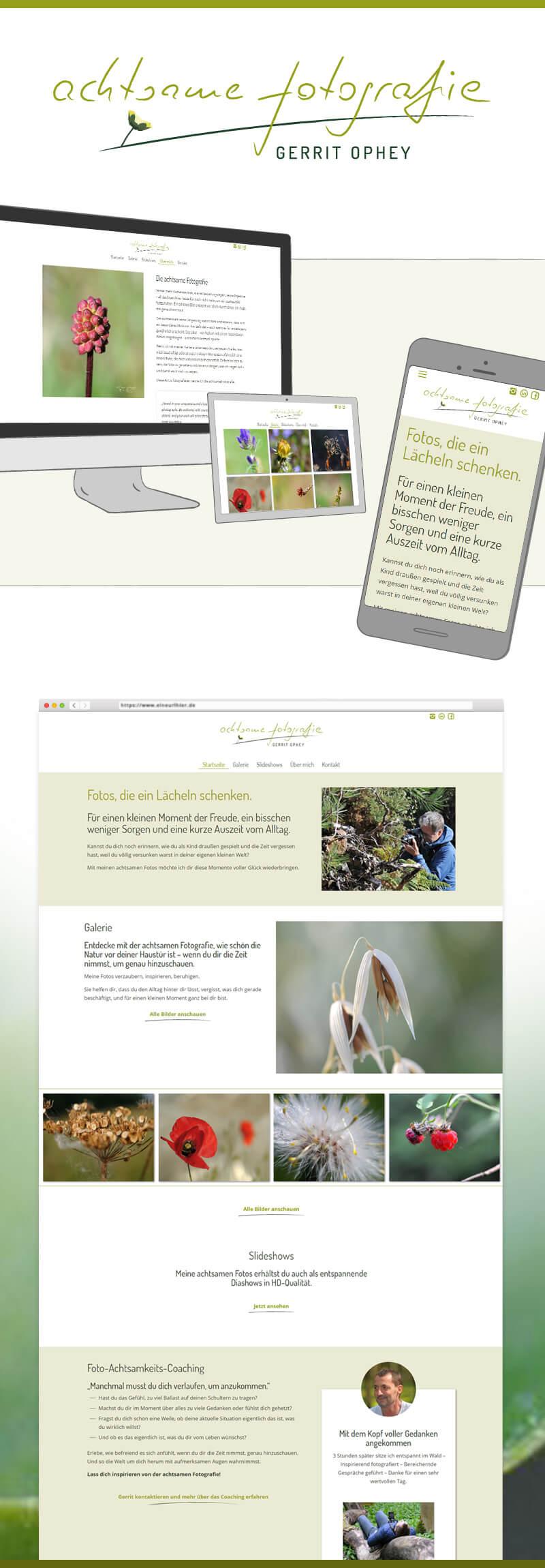 Webdesign für Gerrit Ophey achtsame fotografie