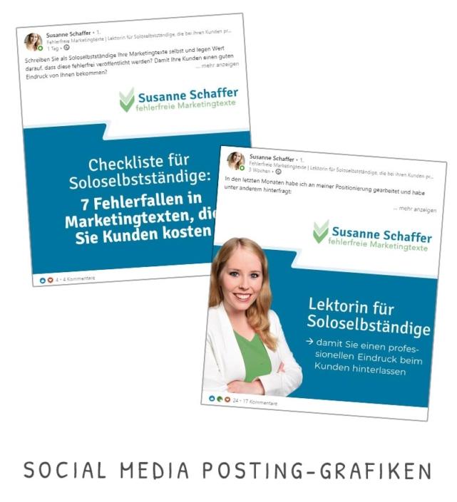 Susanne Schaffer Social Media Posting Grafiken Vorlagen