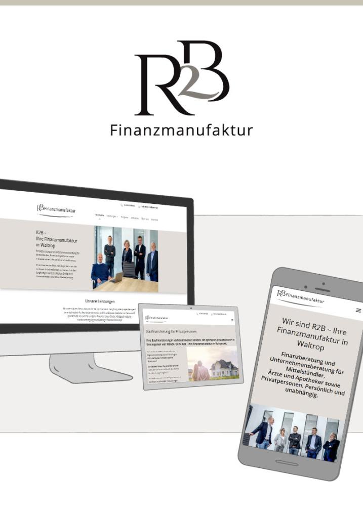 Webdesign für die R2B Finanzmanufaktur