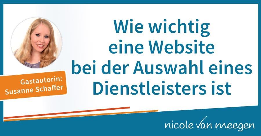 Wie wichtig eine Website bei der Auswahl eines Dienstleisters ist