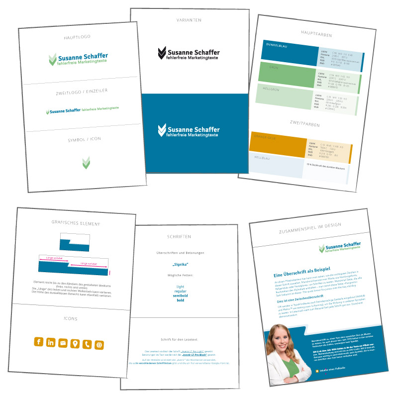 Gestaltungsrichtlinien für neues Firmendesign von Susanne Schaffer