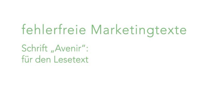 Schrift Avenir für Susannes neues Firmendesign