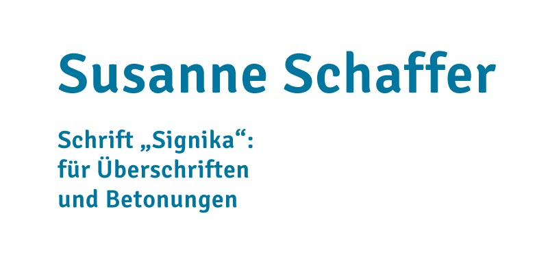 Schrift Signika für Susannes neues Firmendesign