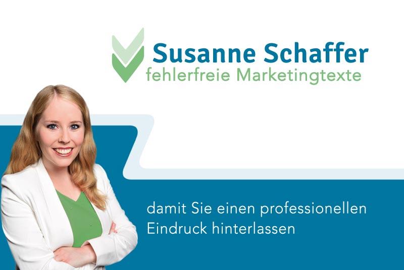 Logo Design und Grafikdesign für Susanne Schaffer - Fallstudie von Nicole van Meegen