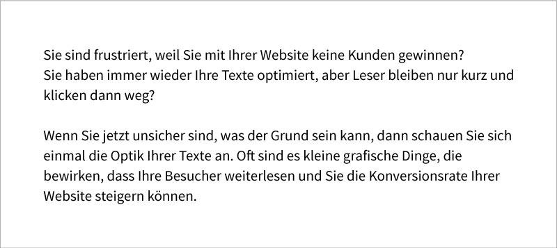 Kontrastreiche Texte sind gut lesbar und verhindern, dass Besucher Ihre Website verlassen