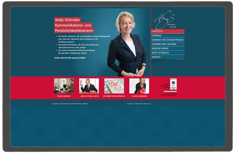 altes Webdesign Antje Schindler Coach