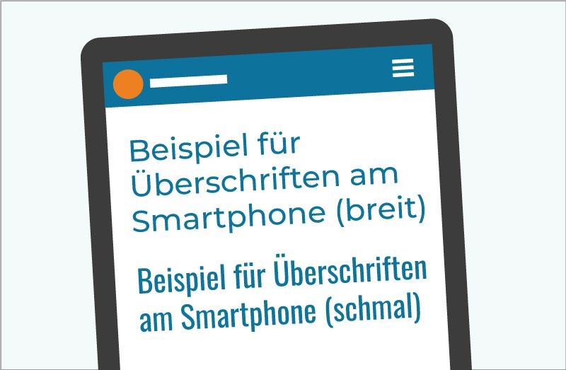 breite vs. schmale Schrift auf Webseiten am mobilen Bildschirm