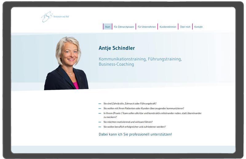neue Webseite Antje Schindler Coach