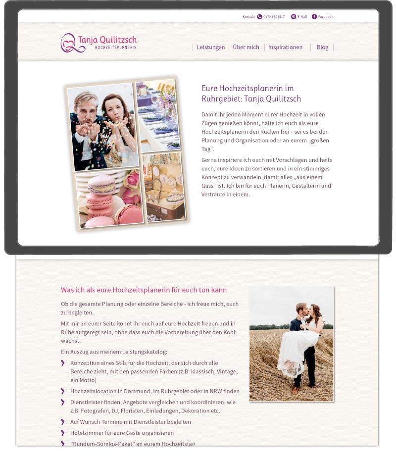 Webdesign Hochzeitsplanerin