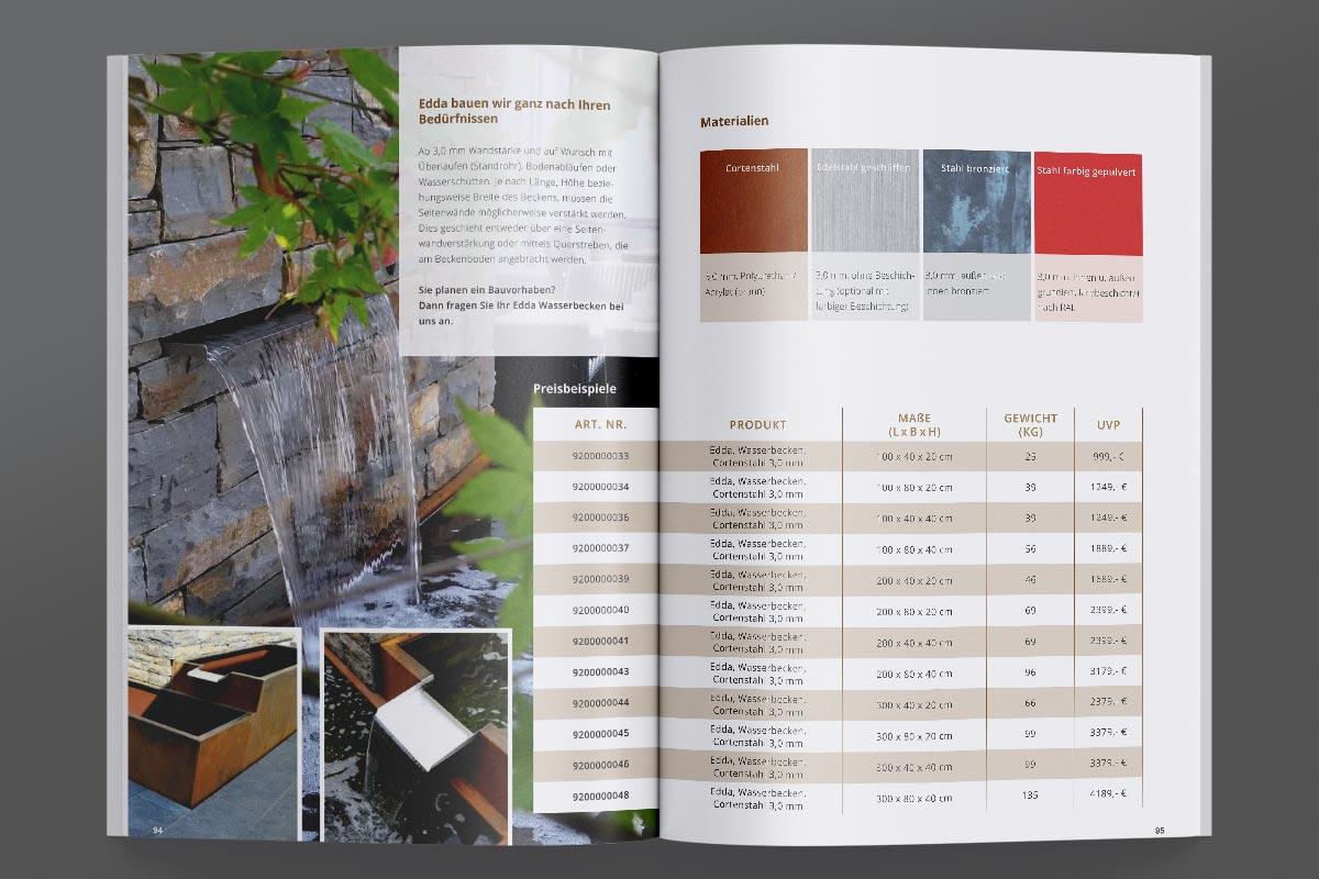 Broschüre Innenseiten Gestaltung - Götterfunken GmbH