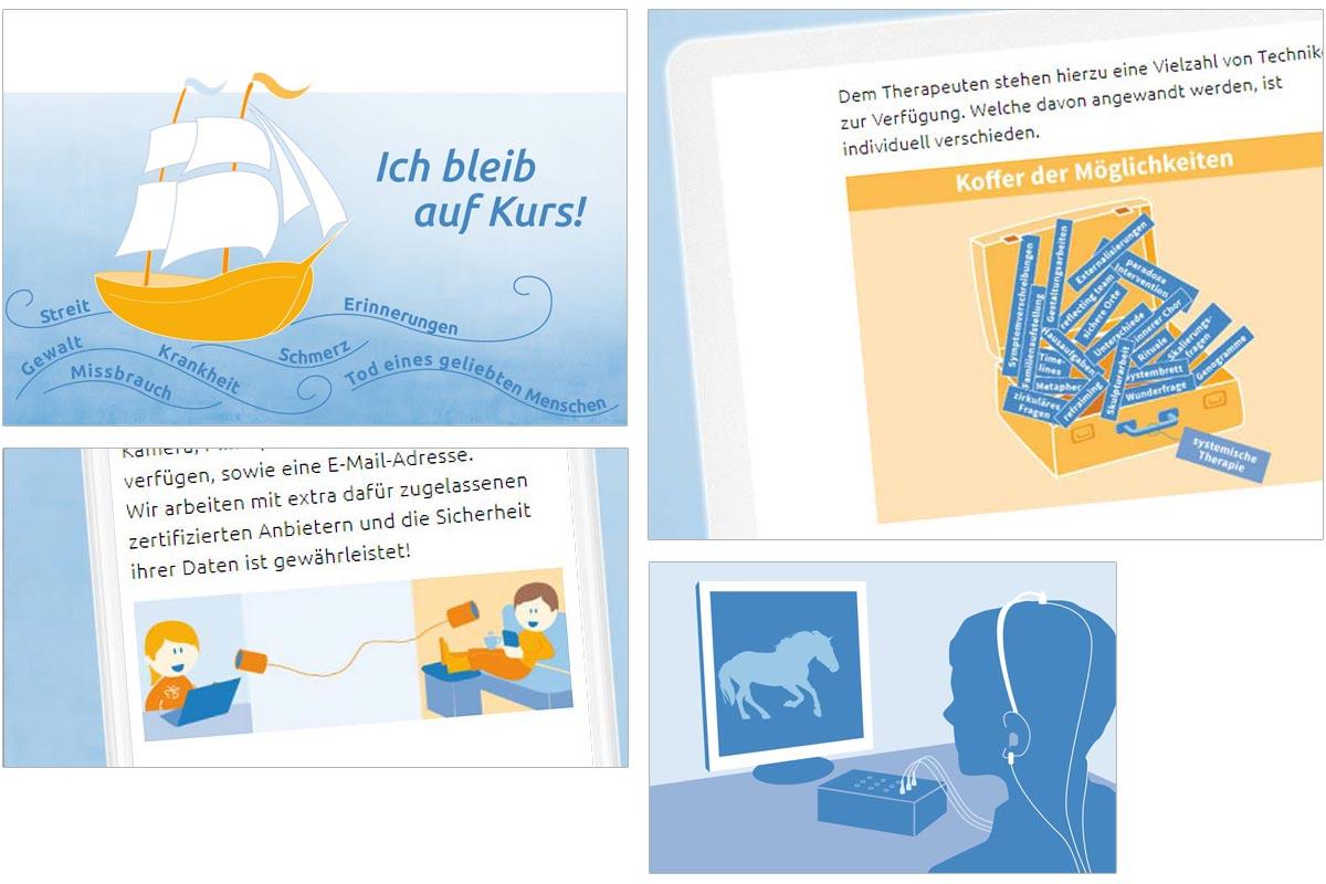 einheitliche Bildsprache – grafiken in den praxisfarben