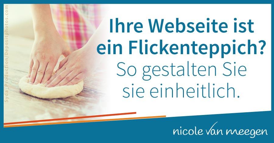 Fühlt sich Ihre Webseite unprofessionell und wie ein Flickenteppich an? So gestalten Sie sie einheitlich.