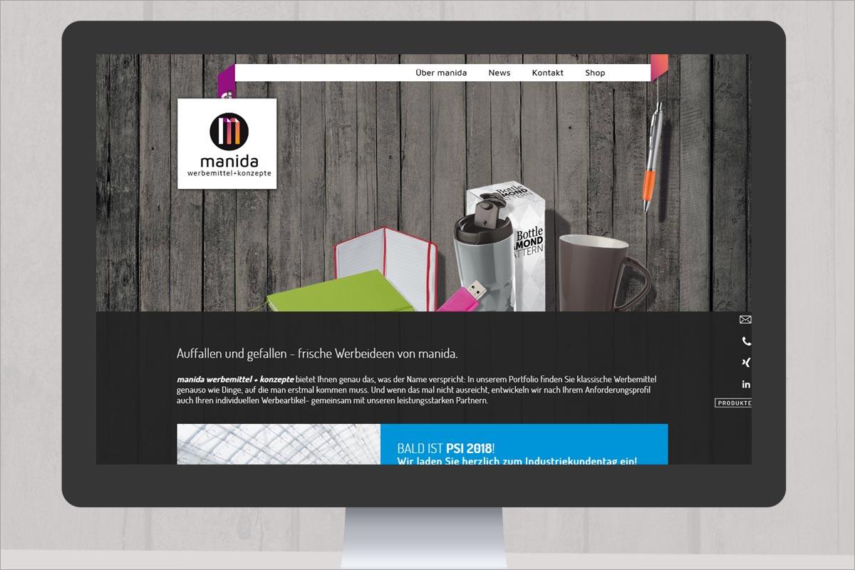 manida responsive Webdesign
