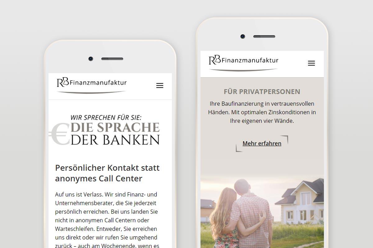 Responsive Webdesign für Finanz- und Unternehmensberater