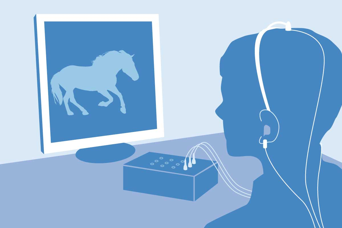 Illustration Ergotherapie - Neurofeedback Training
