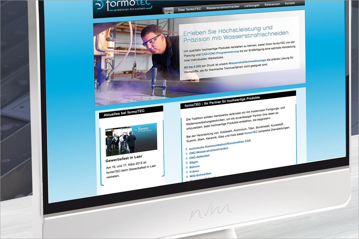 Webdesign formotec