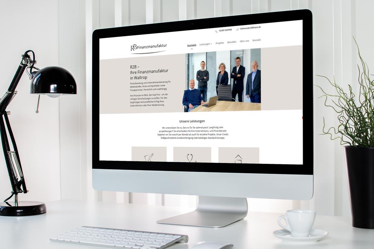 Webdesign für Finanz- und Unternehmensberater