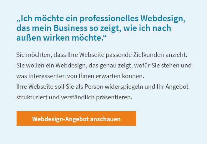 Buttons als Call-to-Action