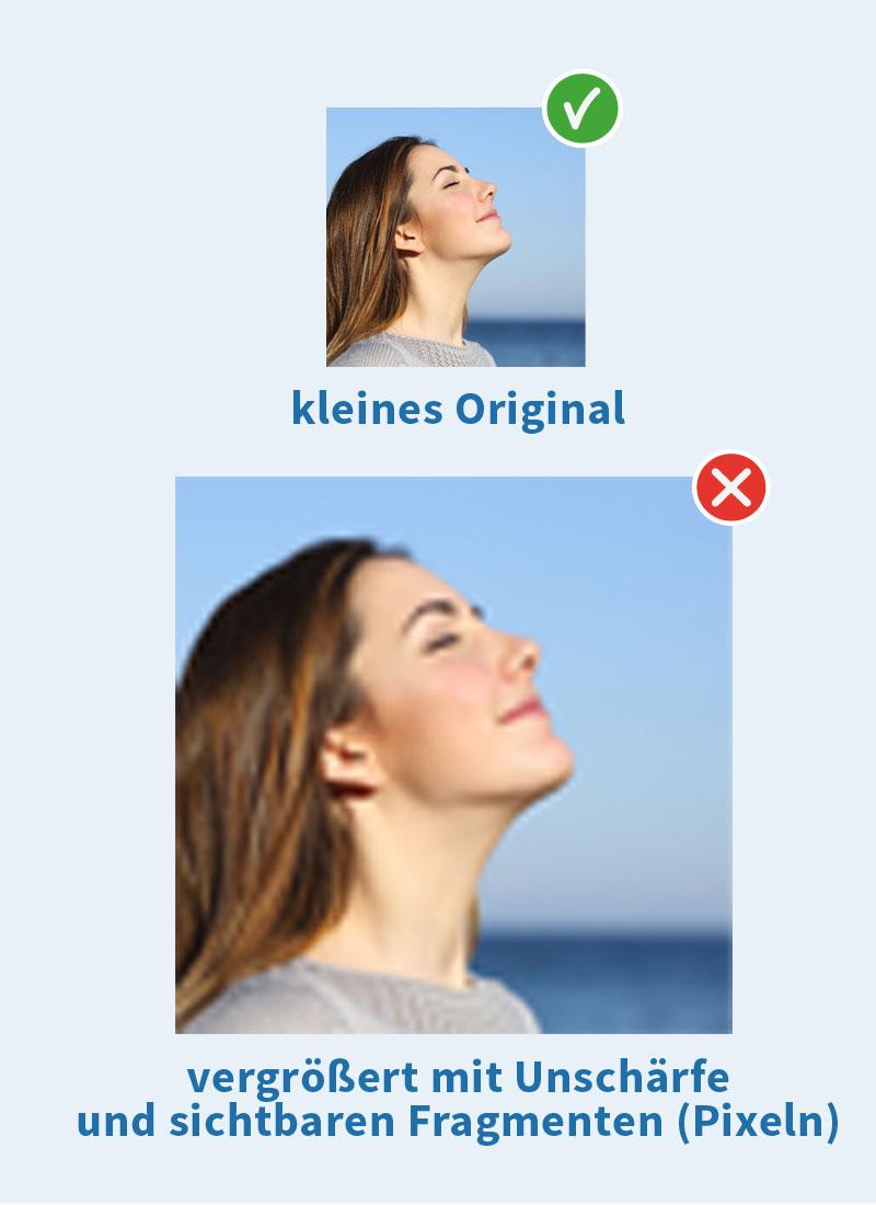optimale Bilder für Ihre Webseite: Unschärfe beim Vergrößern vermeiden