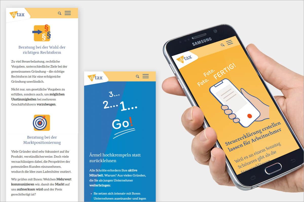 Responsive Webdesign für di-tax Steuerberater